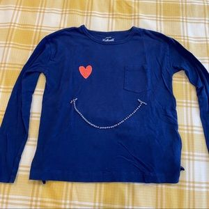 Crewcuts smiley face long sleeve